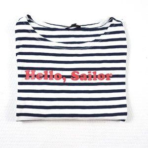 J.Crew hello, sailor long Sleeve striped knit top